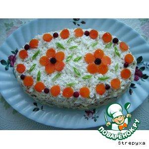 Рецепт: Салат Печень под шубкой