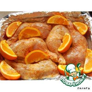 Рецепт: Окорочка в апельсинах