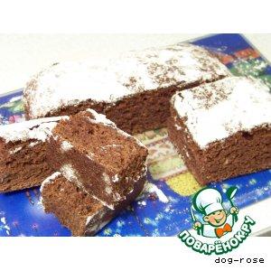 Рецепт: Шоколадный кекс с вареньем