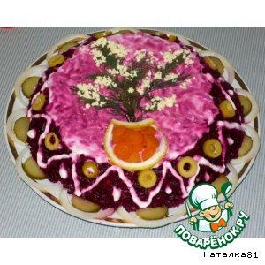Рецепт: Салат Овощной тортик