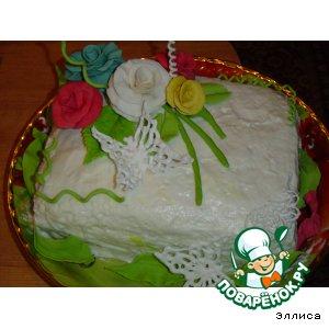 Торт  Цветы  для  мамы