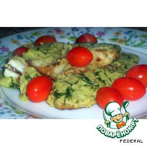 Рецепт: Тилапия в соусе из авокадо