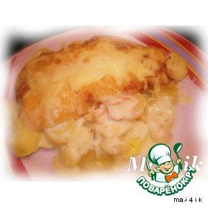 Рецепт: Сливочно-картофельный гратен с лососем