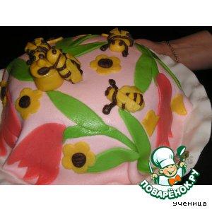 Рецепт: Тортик из сливочного пломбира
