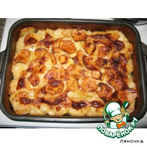 Рецепт: Картофель, запеченный в молоке