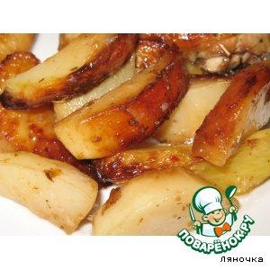 Рецепт: Картофель, запеченный в соусе