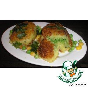 Рецепт: Котлеты картофельные с зеленым горошком