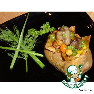 Рецепт: Запеченный картофель с овощами