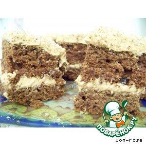 Рецепт: Финиковый торт-пирожное