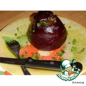 Рецепт: Свекла, фаршированная рисом и овощами