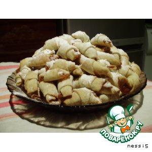 Рецепт: Печенье Рогалики