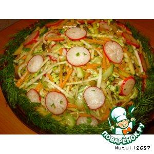 Рецепт: Салат «Витаминное изобилие»