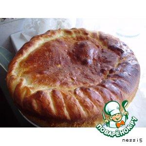 Рецепт: Закрытый пирог с мясом