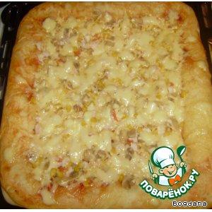 Рецепт: Пицца Пышная