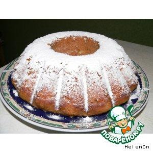 Рецепт: Мокрый апельсиновый кекс