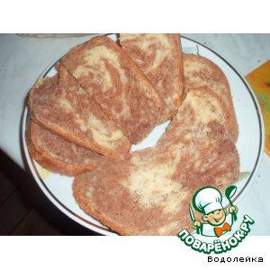 Рецепт: Мраморный кекс в хлебопечке