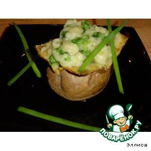 Рецепт: Запеченный картофель с брокколи