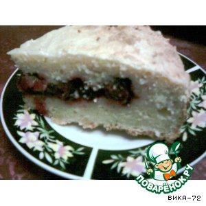 Рецепт: Творожный пирог с вишнями