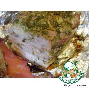 Рецепт: Свинина, запечeнная в фольге