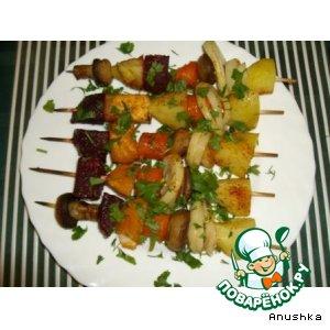 Рецепт: Овощной шашлык