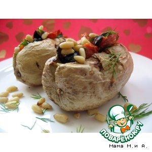 Рецепт: Картофель с цветными кармашками