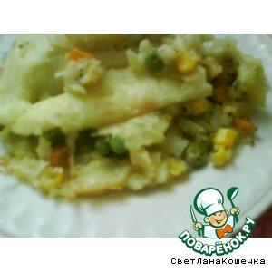 Рецепт: Вкусненькая картофельная запеканочка с овощами