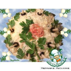 Рецепт: Салат Весенний кальмарик