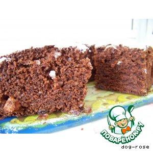Рецепт: Шоколадный кекс с вареньем-2
