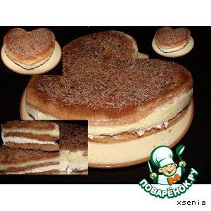 Рецепт: Торт бисквитный с ананасами и маскарпоне