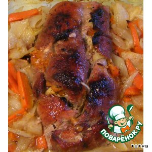 Рецепт: Свиной рулет Нежный