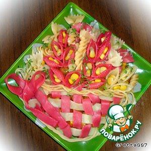 Рецепт: Овощное рагу с макаронами Оранжевое настроение