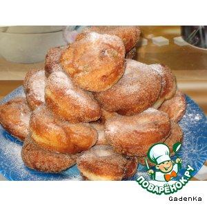 Рецепт: Пончики к завтраку «Кокосик»