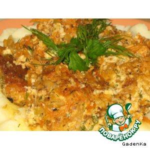 Рецепт: Скумбрия в томатно-яичной подливке