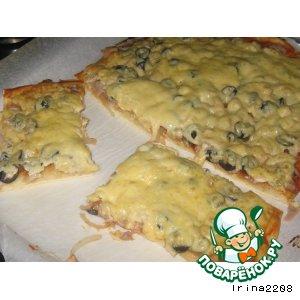 Рецепт: Простая пицца с ножками