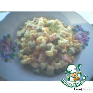 Рецепт: Салат Зимний с сухариками