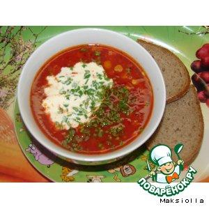 Рецепт: Суп томатный с кукурузой