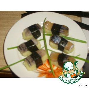 """Закуска """"Наш ответ японцам"""" или суши по-русски – кулинарный рецепт"""