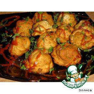 Рецепт: Пельмени с капустой и грибами