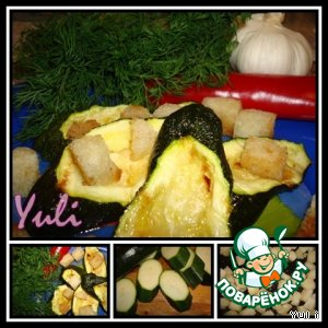 Рецепт: Цуккини с чесноком и чили