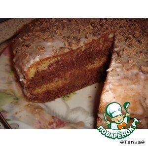 Рецепт: Торт День и Ночь