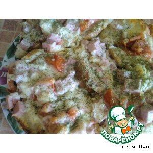 Рецепт: Горячие бутерброды Крошки со стола