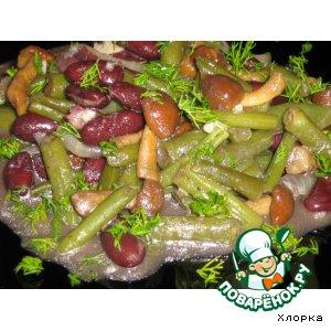 Рецепт: Фасоль с грибами