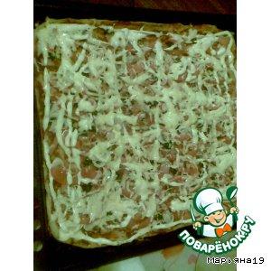 Рецепт: Пицца с крабовыми палочками