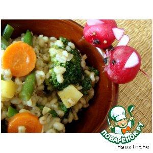 Рецепт: Перловка с овощами
