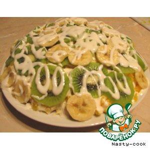 Рецепт: Фруктово-мясной салат Куриные радости