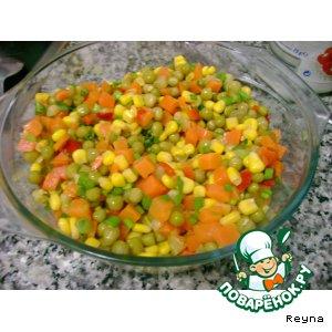"""Рецепт: Салат """"Светофор"""""""