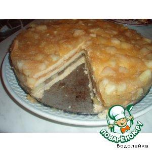 Рецепт: Пирог с яблоками разноцветный