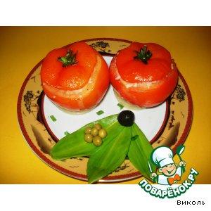 Рецепт: Запеченные фаршированные помидоры