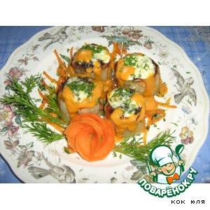 Рецепт: Картофель запечeный с соевым мясом