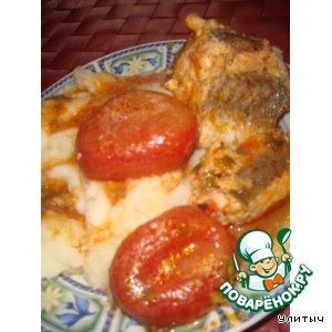 Рецепт: Хек в помидорах